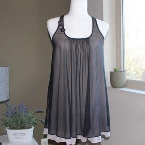 Betsy Johnson Black/Pink Sheer Nightgown